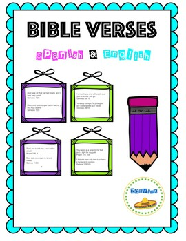 Bible Verses in Spanish and English