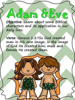 Bible characters/ Personajes de la Biblia