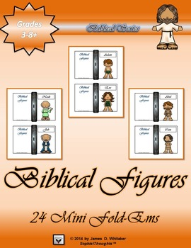 Biblical Figures Characters of the Bible Mini Fold-Ems