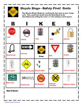 Bicycle Safety Bingo