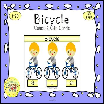 Bicycle Count and Clip Task Cards