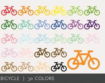Bicycle Digital Clipart, Bicycle Graphics, Bicycle PNG, Ra