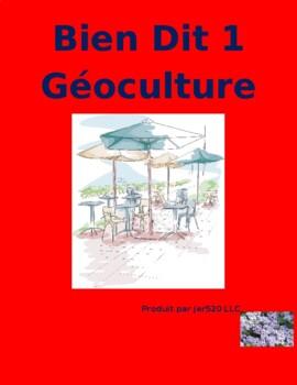 Bien Dit 1 Chapitres 7 et 8 Géoculture worksheet