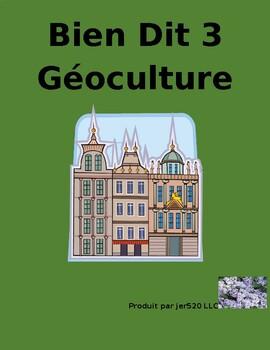 Bien Dit 3 Chapitres 7 et 8 Géoculture l'Europe francophon