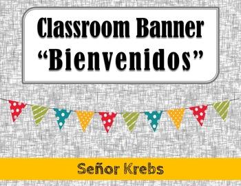 Bienvenidos Classroom Banner