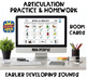 Big Articulation Homework Bundle! Early and Later Sounds!
