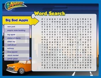 Big Bad Apple Word Search