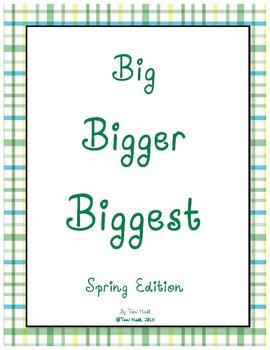 Big Bigger Biggest Spring Size Sequencing Packet