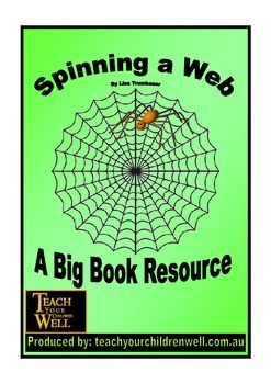 Big Book Activities - Spinning a Web - 15 pages