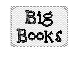 Big Book Bin Label