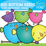 Big Bottom Birds Clipart Set