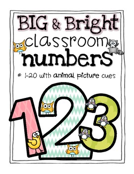 Big & Bright Classroom Numbers