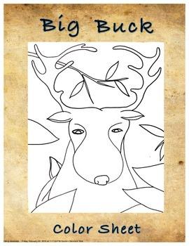 """Big Buck"" Color Sheet"