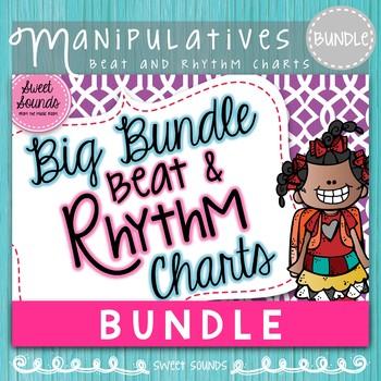 Big Bundle Beat and Rhythm Charts (Kindergarten and 1st gr