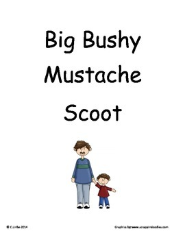 Big Bushy Mustache ~ Scoot Game ~ Language Arts ~ Task Cards