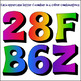 Big Chunky 3D Clipart Rainbow Letters and Numbers