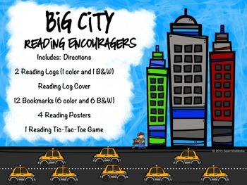 Big City (New York)  Bookmarks, Reading Logs, Posters -Reading!