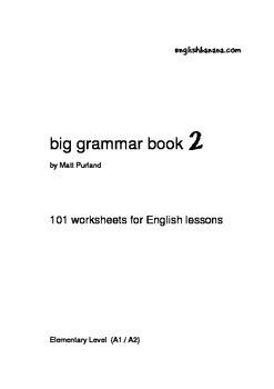 Big Grammar Book - 101 worksheets