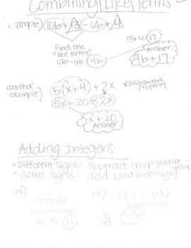 Big Ideas 8th Grade Math Curriculum Chapters 1-4