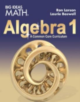 Big Ideas Algebra 1 Homework  Ch 3            96% Pass rate