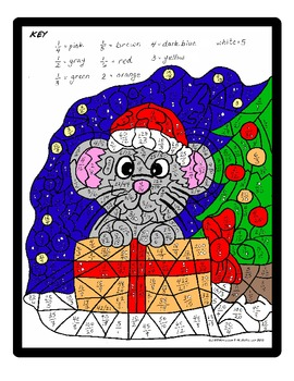 Big Kid Math Holiday Color by Equivalent Fractions