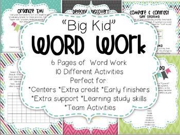 Big Kid WORD WORK
