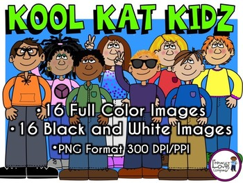 Big Kids Clip Art - Kool Kat Kidz
