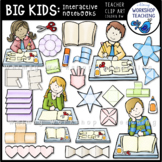 Big Kids Interactive Notebook Clip Art - Whimsy Workshop Teaching
