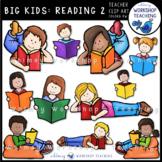 Big Kids: Reading 2 Clip Art - Whimsy Workshop Teaching