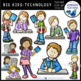 Big Kids Writing and Technology Clip Art - Whimsy Workshop