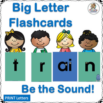 Giant Letter Flashcards work well with programs like Jolly