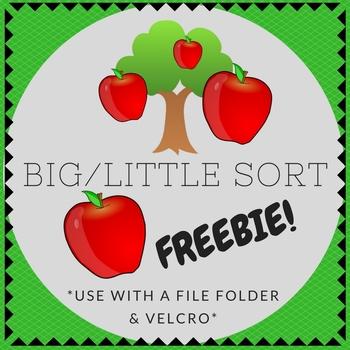 Big / Little Apple Tree Folder Sorting Activity (for child