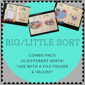 Big / Little COMBO PACK Folder Sorting Activity (for child