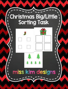 Big / Little Christmas Sorting Task for students with Auti