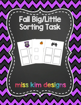 Big / Little Fall Sorting Folder Game for students with Autism
