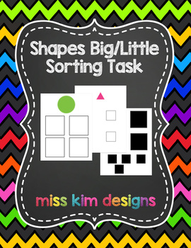 Big / Little Shape Sorting Folder Game for students with Autism
