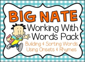 Big Nate: Building & Sorting Words Pack
