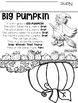 "Big Pumpkin --- ""Big Pumpkin"" Re-Telling Craftivity and Po"