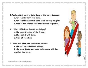 Big Red Lollipop - 2nd Grade Reading Quiz + Activities Bundle