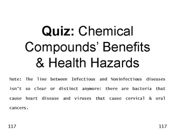 Big Science 1  Matter  18  Quiz  Chemical Compounds' Benef