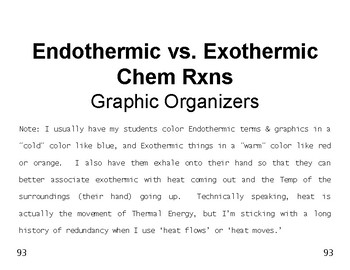 Big Science 4  Props & Changes  15 Endothermic vs. Exother