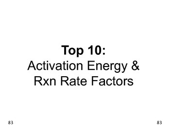 Big Science 4  Props & Changes  28  Activation Energy & Rx