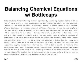 Big Science 4  Props & Changes  31  Balancing Chemical Equ