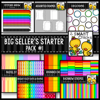Big Seller's Starter Pack #1 – Digital Papers, Frames and Banners