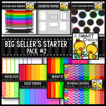 Big Seller's Starter Pack #2 – Digital Papers, Frames and Banners