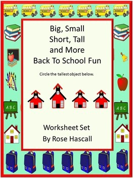Sorting:Big-Small, Short-Tall and More NO PREP Math Center