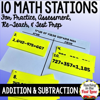 Addition and Subtraction Test Prep Math Stations