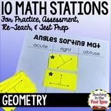 Geometry Test Prep Math Stations