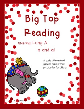 Big Top Reading starring Long A a and ai