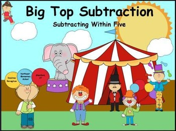Big Top Subtraction: Subtraction Within Five Math Center (K.OA.5)
